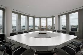 Big Meeting Table Furniture Modern Conference Table Decoration With White Tabletop
