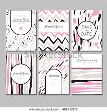 set universal cards invitation save date stock vector 580937959