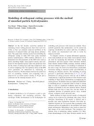 modelling of orthogonal cutting processes with the method of