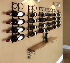 barrel stave wall wine rack wine enthusiast and wine racks for