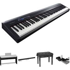 Keyboard Stand And Bench Roland Fp 30 Digital Piano Kit With Stand Pedal Unit Bench