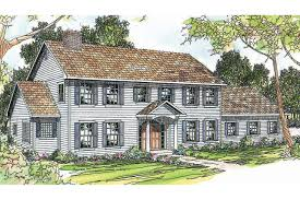colonial home design plans hahnow