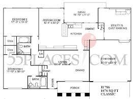 classic floor plans h786 classic floorplan 1761 sq ft sun city west 55places com