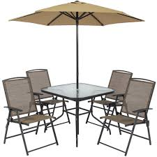 Patio Dining Set by Best Choice Products 6pc Outdoor Folding Patio Dining Set W Table 4