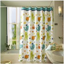 amazon com fun kids fabric bathroom shower curtain with 12