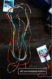 make seed bead necklace images Diy seed friendship necklace say yes jpg