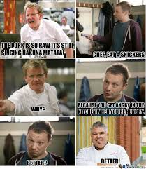 Eat A Snickers Meme - chef eat a snickers by commndershepard117 on deviantart