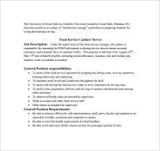 Sample Of Cashier Resume by 11 Cashier Job Description Templates U2013 Free Sample Example