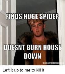 Huge Spider Memes Image Memes - 25 best memes about burn house down burn house down memes