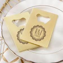 wedding bottle openers personalized gold credit card bottle opener boho kateaspen