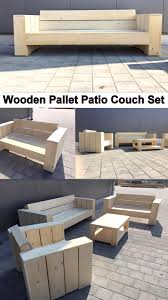 Patio Pallet Furniture by Wooden Pallet Patio Couch Set Pallet Ideas Recycled Upcycled