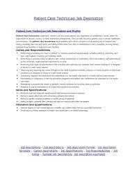 patient care technician sample resume patient care technician