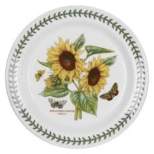 portmeirion botanic garden seconds 10 inch sunflower plate set of
