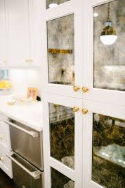 Kitchen Cabinets With Glass Mirrored Cabinet Kitchen Childcarepartnerships Org