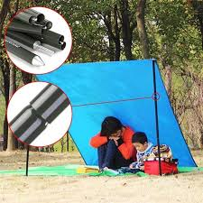 Camping Tent Awning Awning Aluminum Rod 4 Section Pc Pole For Tent Awnings Sunshade