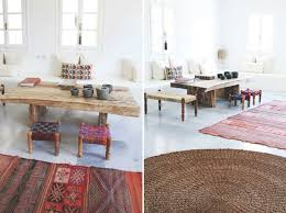 extra seating design ideas woven stools add extra seating to a coffee table