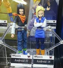 android 17 and 18 sdcc 2013 sh figuarts z photos android 17 shenron