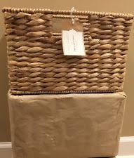Pottery Barn Baskets With Liners Pottery Barn Square Décor Baskets Ebay