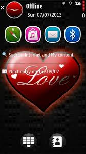 themes java love download theme love red by kallol ovi for nokia 5800 x6 and n97