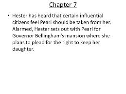 the scarlet letter chapter 7 cover letter exles