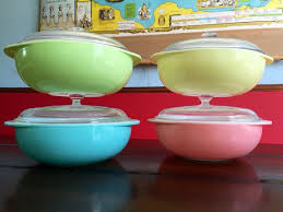 pink retro kitchen collection vintage pyrex 024 covered casserole collection pink aqua blue