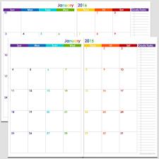 blank calendar template ks1 printable 24 month 2 page calendar 2015 2016 5 1 2 x 8 1 2