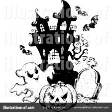 halloween graveyard clipart ghost clipart spooky cemetery pencil and in color ghost clipart