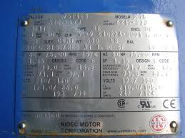 Hp Us by Us Motors Nidec 3 Phase Electric Fire Pump Motor 75 Hp 3570 Rpm