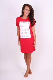 red christmas list oversized tshirt dress clothing from