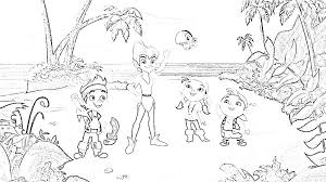 cool jake neverland pirates coloring pages bebo pandco