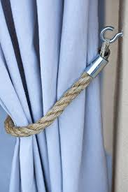 Rope Tiebacks For Curtains Adorable Rope Tiebacks For Curtains Ideas With 25 Best Curtain Tie
