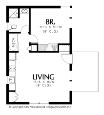 plan 1165 the squirrel is a 600 sqft contemporary ranch vacation