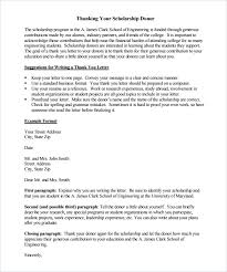 sample scholarship thank you letter 11 documents in pdf word