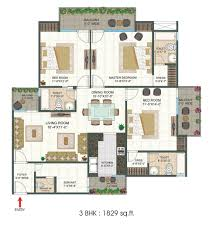 platinum 321 u2013 3bhk with servant room