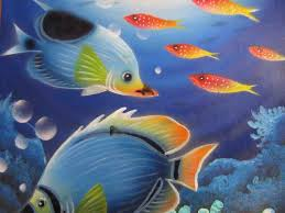 Tropical Fish Home Decor Paintd Top