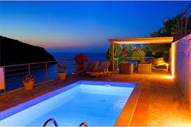100 pool at night thea villa assos mediterranean mansions