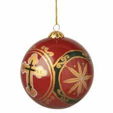 ornament handpainted orthodox cross design ancient faith store
