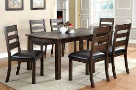 Dining Room Furniture Edmonton Cm3680t Edmonton Dining Table In Dark Walnut W Optional Chairs