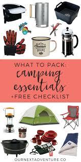 checklist essentials for a family cing trip cing