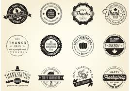 free vector thanksgiving badges free vector stock