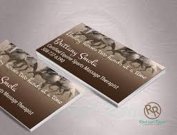 Sports Massage Business Cards Branding Logo Design Rock And Rowel Creative Studio Rock