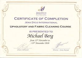 Upholstery Courses Sydney Drymaster Carpet Cleaning Accreditations