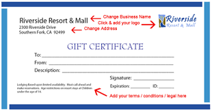 generic gift certificate template free gift certificate templates