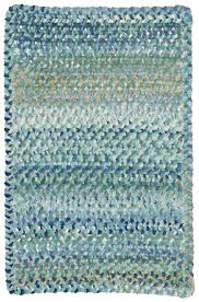 8 Round Braided Rugs by Light Blue Ocracoke Braided Chenille Rug Cottage Home