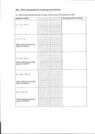 Graphing Functions Worksheet Glencoe Algebra 2 Solving Quadratic Equations By Graphing Answers