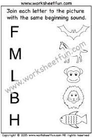 beginning sound u2013 6 worksheets kindergarten worksheets