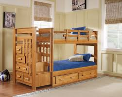 Laminate Floor Lacquer Light Brown Lacquer Teak Wood Bunk Bed With Storage And Dresser
