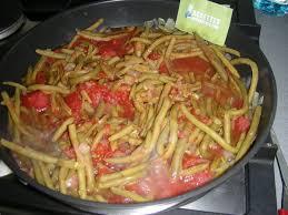 cuisiner le poivron vert haricots verts à la tomate et poivron p