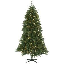 home accents 7 5 ft pre lit led wesley spruce set