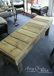 simple diy outdoor bench thrifty project recycled wood artsy